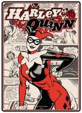 Batman - Harley Quinn Plaque en métal