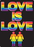 Love Is Love Plaque en métal