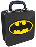 Batman - Logo Embossed Tin Tote Lunch Box