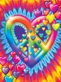 Heart Peace Prints by Lisa Frank