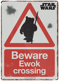 Star Wars - Ewok Crossing Blikkskilt