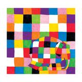 Elmer, Squares Giclee Print by David Mckee