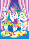 Ballerina Bunnies '92 Poster by Lisa Frank