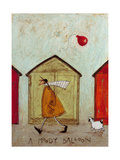 A Moody Balloon Giclee Print by Sam Toft