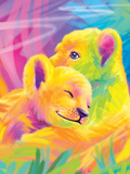 Brushstroke Lions Art by Lisa Frank