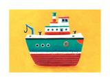 Tug Boat Giclee Print by Simon Hart