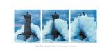 Phare Du Four, Bretagne Triptych Giclee Print by Jean Guichard
