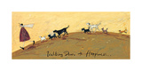 Walking Down To Happiness Giclée-tryk af Sam Toft