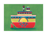 Mississippi Steam Boat Giclee Print by Simon Hart