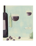 Red Wine With Pear Giclee Print by Nicola Evans