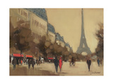 Time Out in Paris Giclee Print by Jon Barker