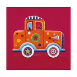 Orange Clown Car Giclee Print by Simon Hart