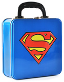 Superman - Logo Embossed Tin Tote Lunch Box