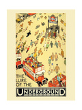 The Lure of the Underground Giclee Print by  Transport for London