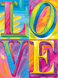 Brushstroke LOVE Prints by Lisa Frank