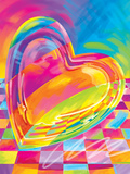 Brushstroke Heart Poster by Lisa Frank