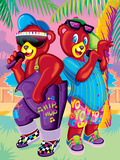 Teddy Rappers '93 Poster by Lisa Frank