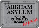 Batman - Arkham Asylum Plaque en métal