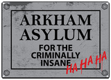 Batman - Arkham Asylum Tin Sign
