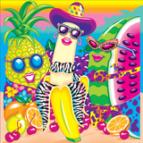 Tropical Fruit '91 Print by Lisa Frank