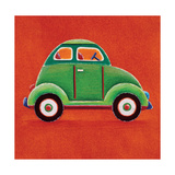 Green Car Giclee Print by Simon Hart