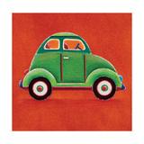 Green Car Giclee Print by Simon Hart