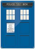 Doctor Who - TARDIS Plechová cedule