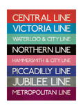 London Transport Tube Lines Giclee Print by  Transport for London