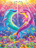 Dancing Dolphins Print by Lisa Frank