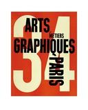 Adolphe Mouron Cassandre - Arts et Métiers Graphiques Paris 34 - Reprodüksiyon