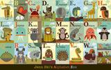 Jenn Ski - Alfabe Bahçesi (Alphabet Zoo) - Poster