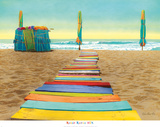Beach Walk Poster by Robin Renee Hix