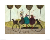 A Bikeful! Print by Sam Toft