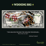 $1,000 Bill Winning Big Poster by Michael Godard
