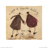 A Spot of Handie Holding Prints by Sam Toft