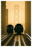 Cable Cars, San Francisco Art by Mitchell Funk
