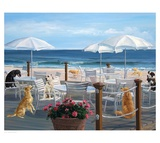 Beach Club Tails Print by Carol Saxe