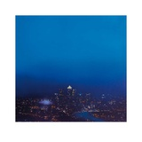 Blue Canary Wharf (Study) Print by Jenny Pockley
