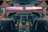 Boeing 747-400 Flight Deck Print by  Unknown