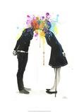 Big Bang Kiss Poster af Lora Zombie