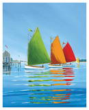 Cape Cod Sail Poster by Sally Caldwell Fisher