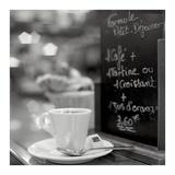 Café, Champs-Élysées Póster por Alan Blaustein