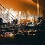 Brooklyn Bridge by Night Posters by  Mereditt.f
