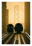 Cable Cars, San Francisco Posters by Mitchell Funk