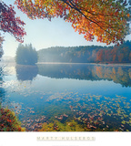 Bass Lake in Autumn I Prints by Marty Hulsebos