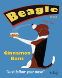 Beagle Buns Prints by Ken Bailey