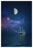 By Way of The Moon and Stars Prints by John Rivera