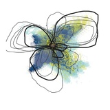Azure Petals II Kunstdrucke von Jan Weiss