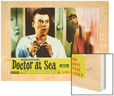 Doctor at Sea Wood Print