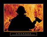 Courage – One Fireman Plakaty autor Unknown